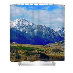 Shower Curtain featuring the photograph Gore Mountain Range by Dan Miller