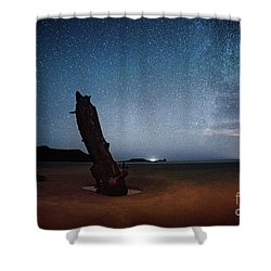 Gower Helvetia At Night  Shower Curtain
