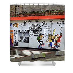 Shower Curtain featuring the photograph Graffiti by Tony Murtagh