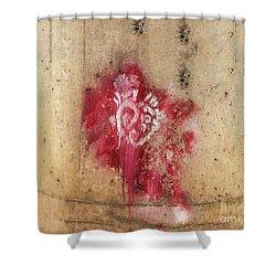 Grafitti Heart Shower Curtain