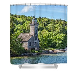 Grand Island East Channel Lighthouse, No. 2 Shower Curtain