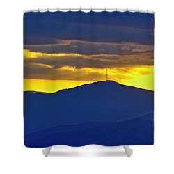 Grandmother Mountain Sunset Shower Curtain