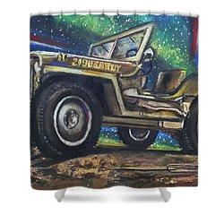 Grandpa Willie's Willys Jeep Shower Curtain