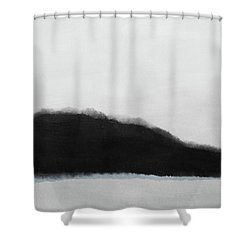 Shower Curtain featuring the mixed media Grayscale 5- Abstract Art By Linda Woods by Linda Woods