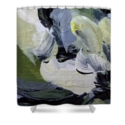 Shower Curtain featuring the painting Green #2 by Maria Langgle