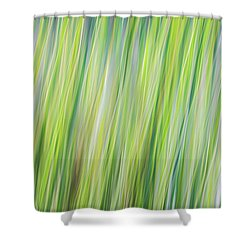 Green Grasses Shower Curtain