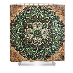 Green Mandala Shower Curtain