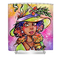 Green Witch Shower Curtain