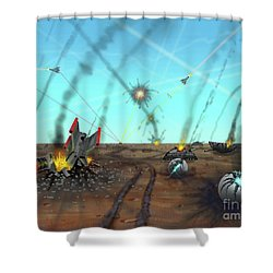 Ground Battle Shower Curtain