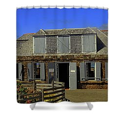 Shower Curtain featuring the photograph Guardhouse by Tony Murtagh