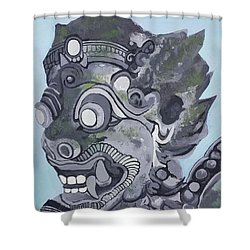 Shower Curtain featuring the painting Guardian  by Jennah Lenae
