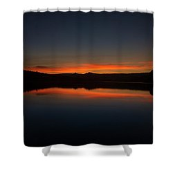 Sunset In The Reservoir Shower Curtain