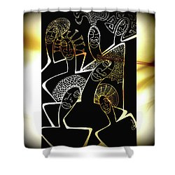 Hair Sisters Stage Set Shower Curtain
