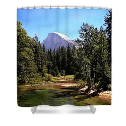 Half Dome From Ahwanee Bridge - Yosemite Shower Curtain