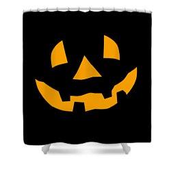 Halloween Pumpkin Tee Shirt Shower Curtain