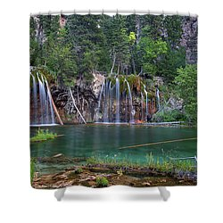 Shower Curtain featuring the photograph Hanging Lake Colorado by Nathan Bush