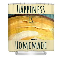 Shower Curtain featuring the painting Happiness Is Homemade #3 by Maria Langgle