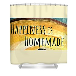 Shower Curtain featuring the painting Happiness Is Homemade by Maria Langgle