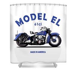 Harley Davidson El 1948 Shower Curtain