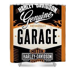 Harley Davidson Sign Shower Curtain