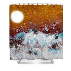 Harvest Pumpkin Shower Curtain