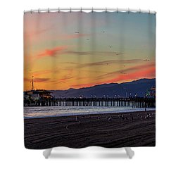 Heading Home At Dusk Shower Curtain