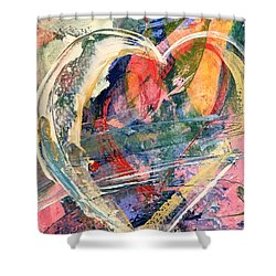 Shower Curtain featuring the painting Heart Full Of Love by Robin Maria Pedrero