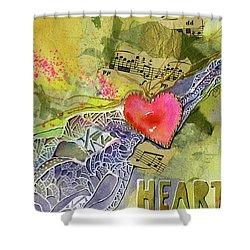 Heart Strings Shower Curtain