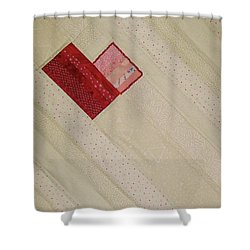 Hearts On A String Shower Curtain