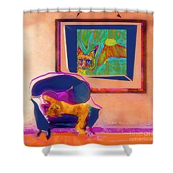 Here's Looking At You Kit Shower Curtain