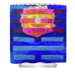 Shower Curtain featuring the painting Hexagram-64-wei-ji-ripening by Denise Weaver Ross