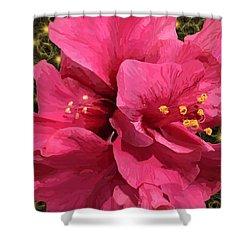 Hibiscus Pollen Shower Curtain