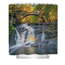 Shower Curtain featuring the photograph High Arch Bridge In Vaughan Woods by Rick Berk