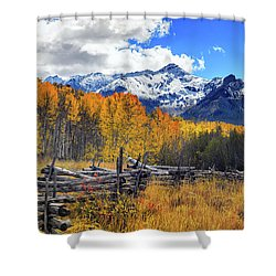 Shower Curtain featuring the photograph High County Ablaze by Rick Furmanek