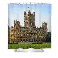 Shower Curtain featuring the photograph Highclere Castle by Joe Winkler