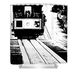 Hill Street Noir Shower Curtain