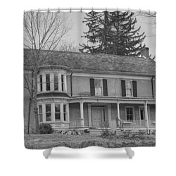 Historic Mansion With Towers - Waterloo Village Shower Curtain