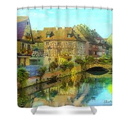 Historic Village On The Rhine Shower Curtain
