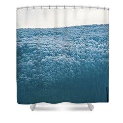 Hoarfrost Blue Mountain Shower Curtain