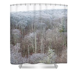 Hoarfrost In The Tree Tops Shower Curtain