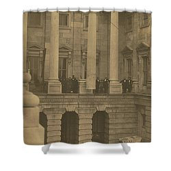 Hoisting Final Marble Column At United States Capitol Shower Curtain
