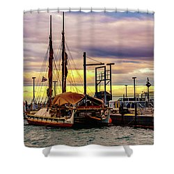 Hokulea Docked Shower Curtain