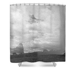 Holga Triptych 4 Shower Curtain