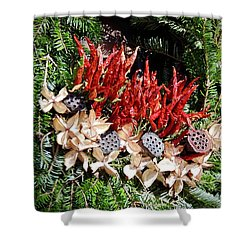 Holiday Peppers Shower Curtain