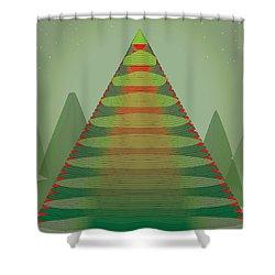Holotree Shower Curtain