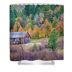 Hope Valley Cabin Shower Curtain