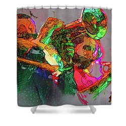 Horn Section Shower Curtain
