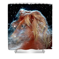 Shower Curtain featuring the photograph Horsehead Nebula With Horse Head Outer Space Image by Bill Swartwout Fine Art Photography