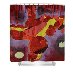 Hot Red Shower Curtain