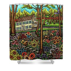 House In The Meadow  Shower Curtain